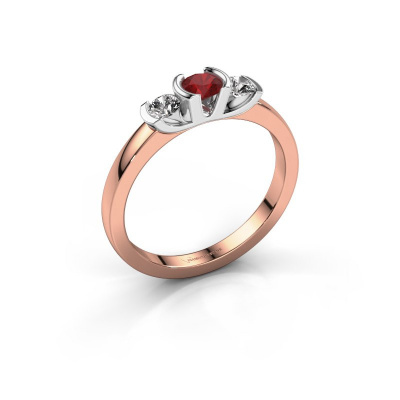 Ring Lucia 585 rose gold ruby 3.7 mm