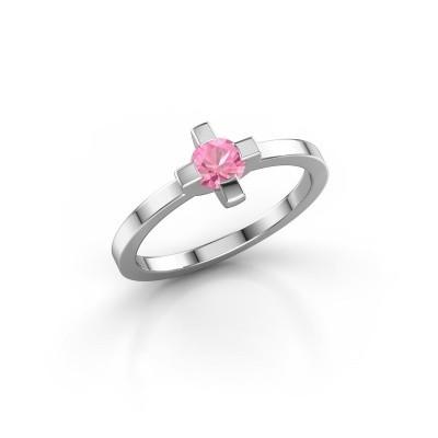 Bild von Ring Therese 585 Weißgold Pink Saphir 4.2 mm