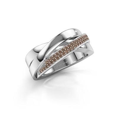 Bild von Ring Katherina 585 Weissgold Braun Diamant 0.255 crt