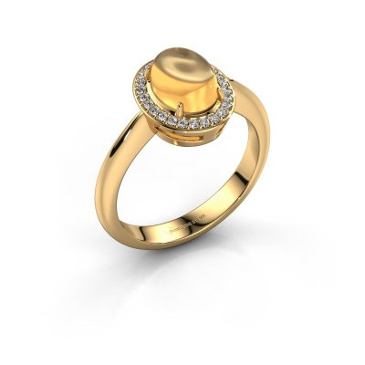 Ring Kristian 585 goud citrien 8x6 mm
