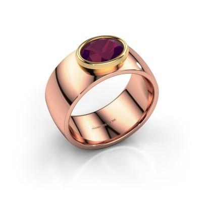 Ring Wilma 1 585 rosé goud rhodoliet 8x6 mm