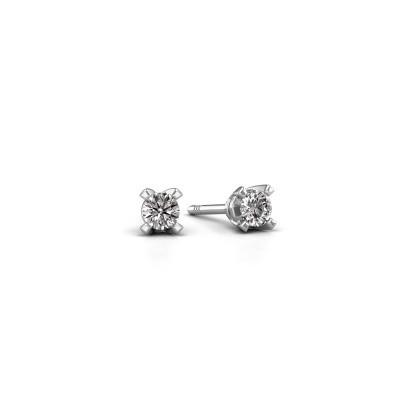 Foto van Oorstekers Isa 950 platina lab-grown diamant 0.10 crt