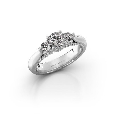 Picture of Engagement ring Tiffani 585 white gold lab-grown diamond 0.74 crt