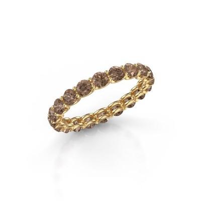 Foto van Ring Kirsten 2.9 375 goud bruine diamant 1.90 crt