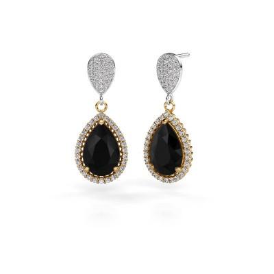 Oorhangers Tilly per 2 585 goud zwarte diamant 7.89 crt