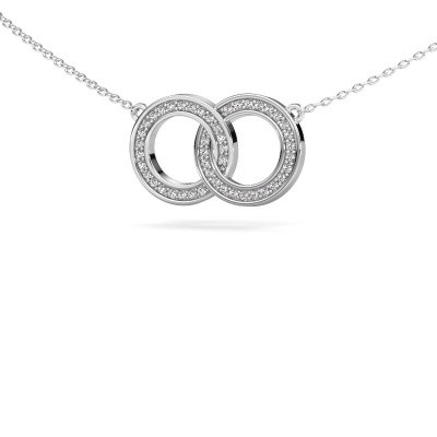 Picture of Necklace Circles 1 585 white gold diamond 0.23 crt