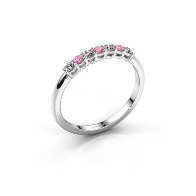 Verlobungsring Michelle 7 950 Platin Pink Saphir 2 mm
