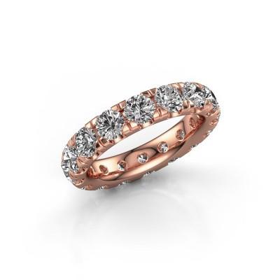 Photo de Bague superposable Jackie 4.0 375 or rose diamant synthétique 4.00 crt