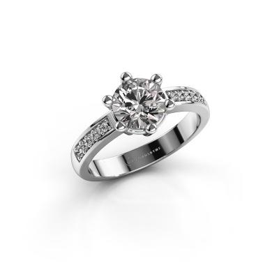 Verlovingsring Luna 2 950 platina diamant 1.00 crt