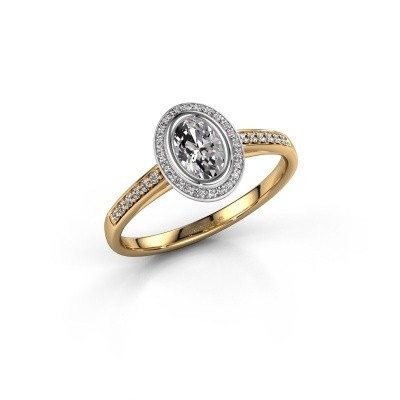 Picture of Engagement ring Noud 2 OVL 585 gold lab-grown diamond 0.64 crt