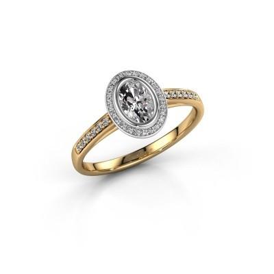 Bild von Verlobungsring Noud 2 OVL 585 Gold Lab-grown Diamant 0.64 crt