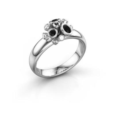 Ring Pameila 925 zilver zwarte diamant 0.228 crt