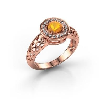 Foto van Ring Katalina 375 rosé goud citrien 5 mm