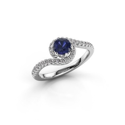 Engagement ring Elli 585 white gold sapphire 5 mm