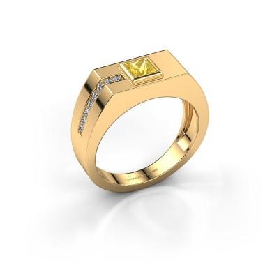 Herrenring Robertus 1 585 Gold Gelb Saphir 4 mm