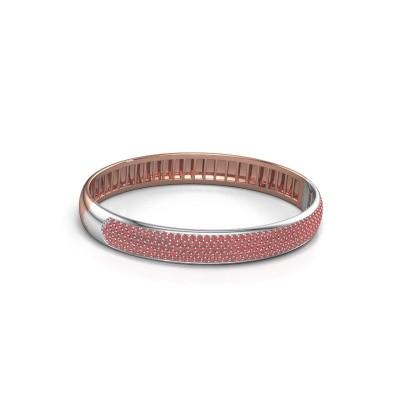 Slavenarmband Emely 9mm 585 rosé goud robijn 1.4 mm