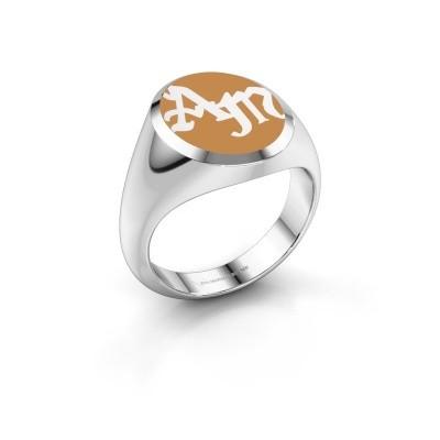 Monogram ring Brad Emaille 950 platina