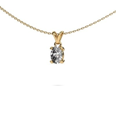 Picture of Necklace Lucy 1 375 gold lab grown diamond 0.80 crt