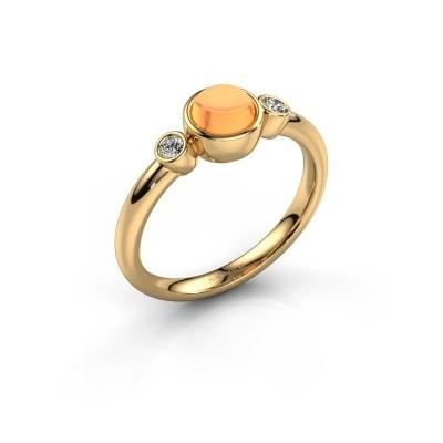 Ring Muriel 585 goud citrien 5 mm