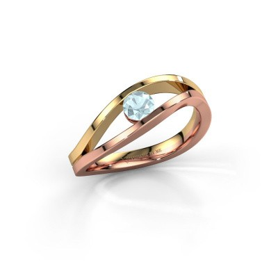 Picture of Ring Sigrid 1 585 rose gold aquamarine 4 mm