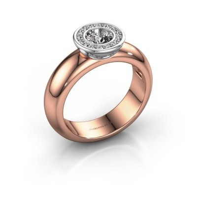 Foto van Stapelring Anna 585 rosé goud lab-grown diamant 0.635 crt