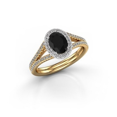 Verlobungsring Rachele 2 585 Gold Schwarz Diamant 1.334 crt