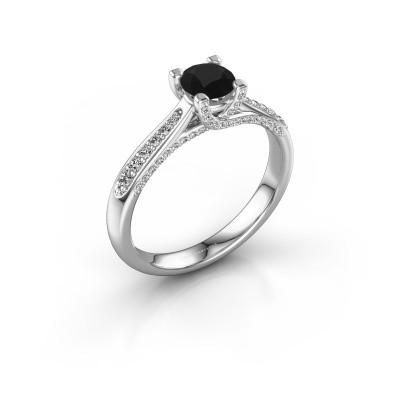 Verlovingsring Mia 3 925 zilver zwarte diamant 0.848 crt