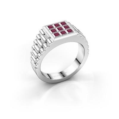 Picture of Men's ring Chavez 585 white gold rhodolite 2 mm