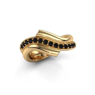 Ring Guusje 585 gold black diamond 0.42 crt