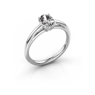 Verlovingsring Haley OVL 1 925 zilver lab-grown diamant 0.80 crt