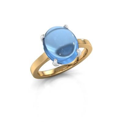 Bild von Ring Mallie 1 585 Gold Blau Topas 12x10 mm