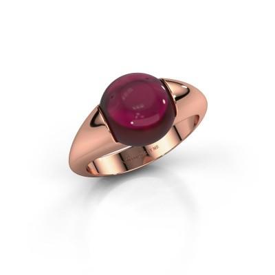Foto van Ring Robine 375 rosé goud granaat 10 mm