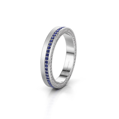 Wedding ring WH2214L15BM 585 white gold sapphire 1 mm ±0.14x0.08 in
