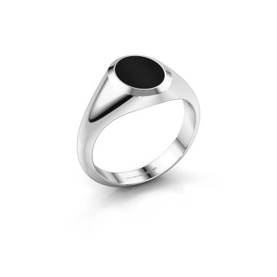 Picture of Pinky ring Herman 1 950 platinum onyx 10x8 mm