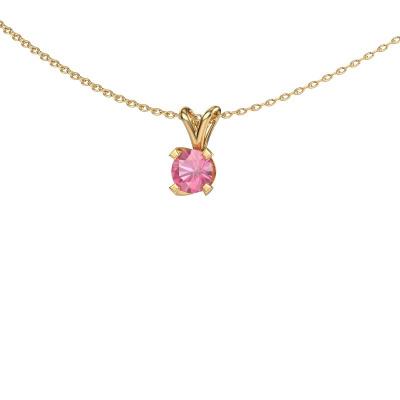 Bild von Anhänger Eva 585 Gold Pink Saphir 5 mm
