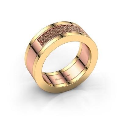 Foto van Ring Marita 1 585 rosé goud bruine diamant 0.235 crt