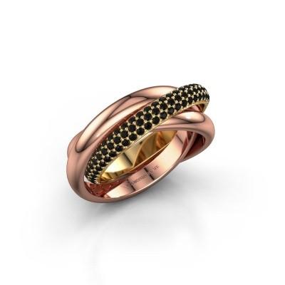 Ring Helena 2 585 goud zwarte diamant 1.062 crt