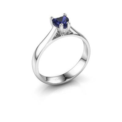 Engagement ring Sam Heart 950 platinum sapphire 5 mm