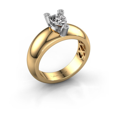 Ring Cornelia Pear 585 gold zirconia 7x5 mm