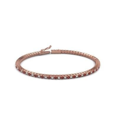 Tennis bracelet Simone 375 rose gold ruby 2 mm