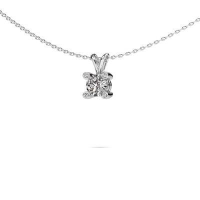 Picture of Pendant Fleur 950 platinum diamond 0.50 crt