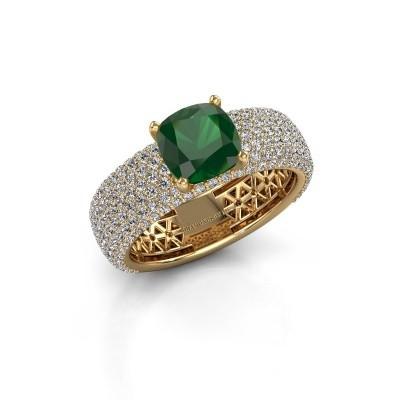 Verlovings ring Darcy 375 goud smaragd 7 mm