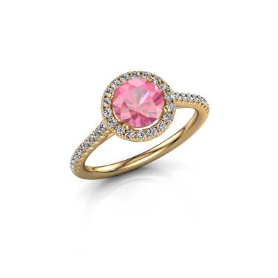 Foto van Verlovingsring Seline rnd 2 375 goud roze saffier 6.5 mm