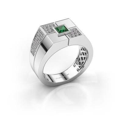 Foto van Heren ring Rogier 375 witgoud smaragd 4 mm