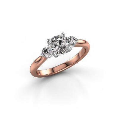 Picture of Engagement ring Lieselot RND 585 rose gold zirconia 6.5 mm
