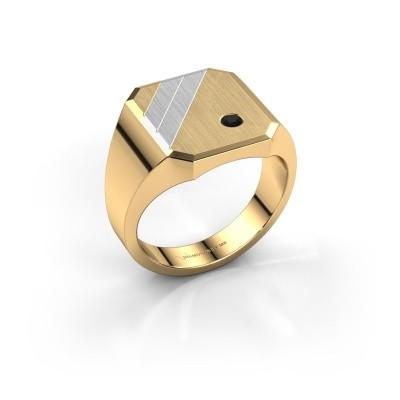 Foto van Zegelring Patrick 3 585 goud zwarte diamant 0.072 crt