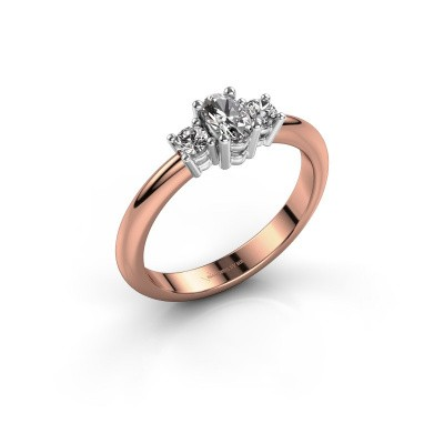 Engagement ring Karie 585 rose gold diamond 0.39 crt