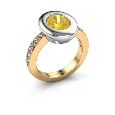 Ring Selene 2 585 gold yellow sapphire 9x7 mm
