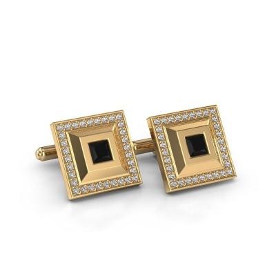 Foto van Manchetknopen Joris 585 goud zwarte diamant 1.62 crt