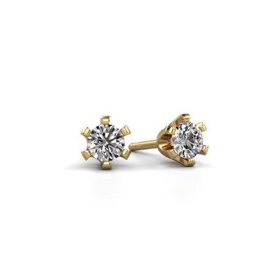 Foto van Oorstekers Shana 375 goud diamant 0.50 crt